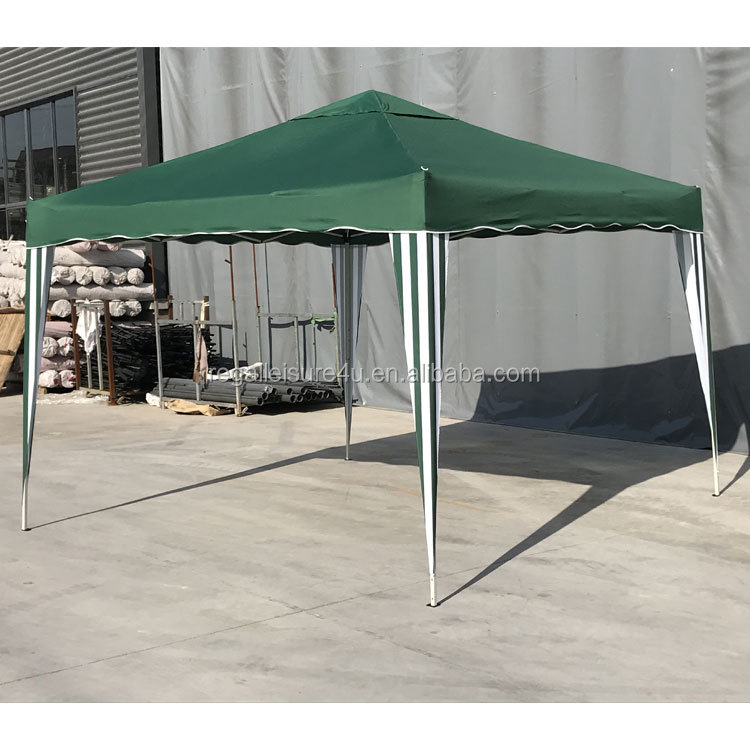 Steel Foldable Gazebo for Outdoor Events Green Canopy