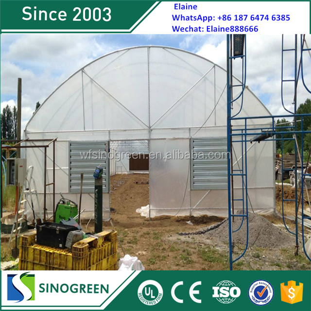 SinoGreen excellent strength high tunnel greenhouse trolley
