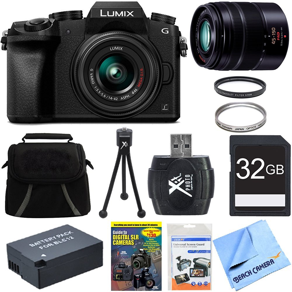 Cheap Lumix Lens Cover Find Deals On Line At Panasonic G7 Kit 14 42 Ii Silver Leica 25mm F Get Quotations Mirrorless 4k Uhd Camera Bundle Includes 42mm