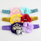 Kid Girl Baby Toddler Infant Flower Headband Hair Bow Band Accessories Floral Flower Diamond Glitter Headwear