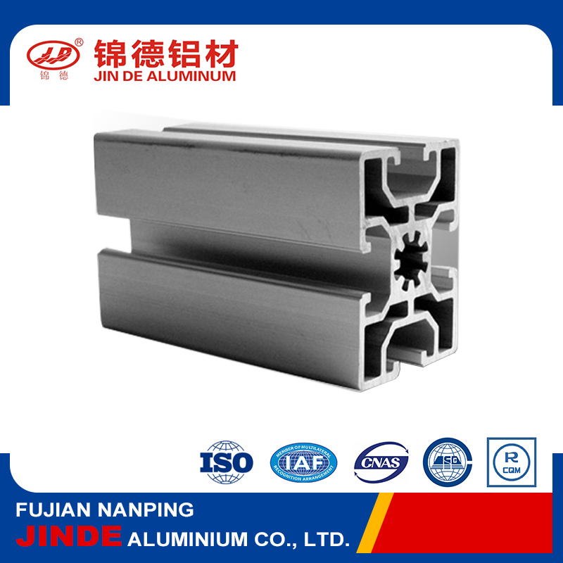 High strength T-slot aluminum extrusion for building materials