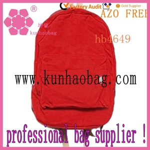 india student red canvas backpack