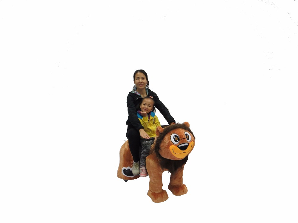 HI Lion King battery operated kids walking animal ride on toy for mall