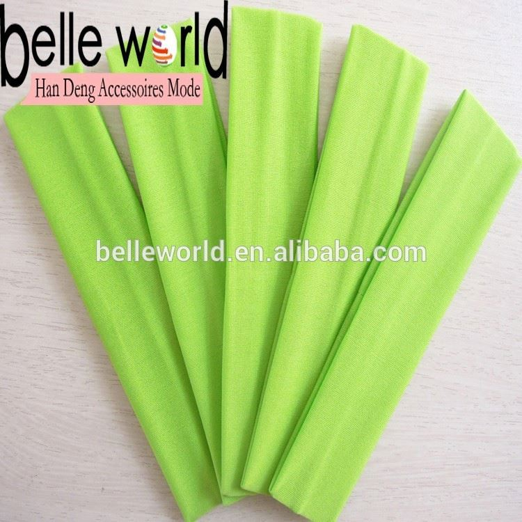 lime green polyster yoga <strong>headbands</strong>