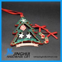 Hanging decoration metal christmas stocking