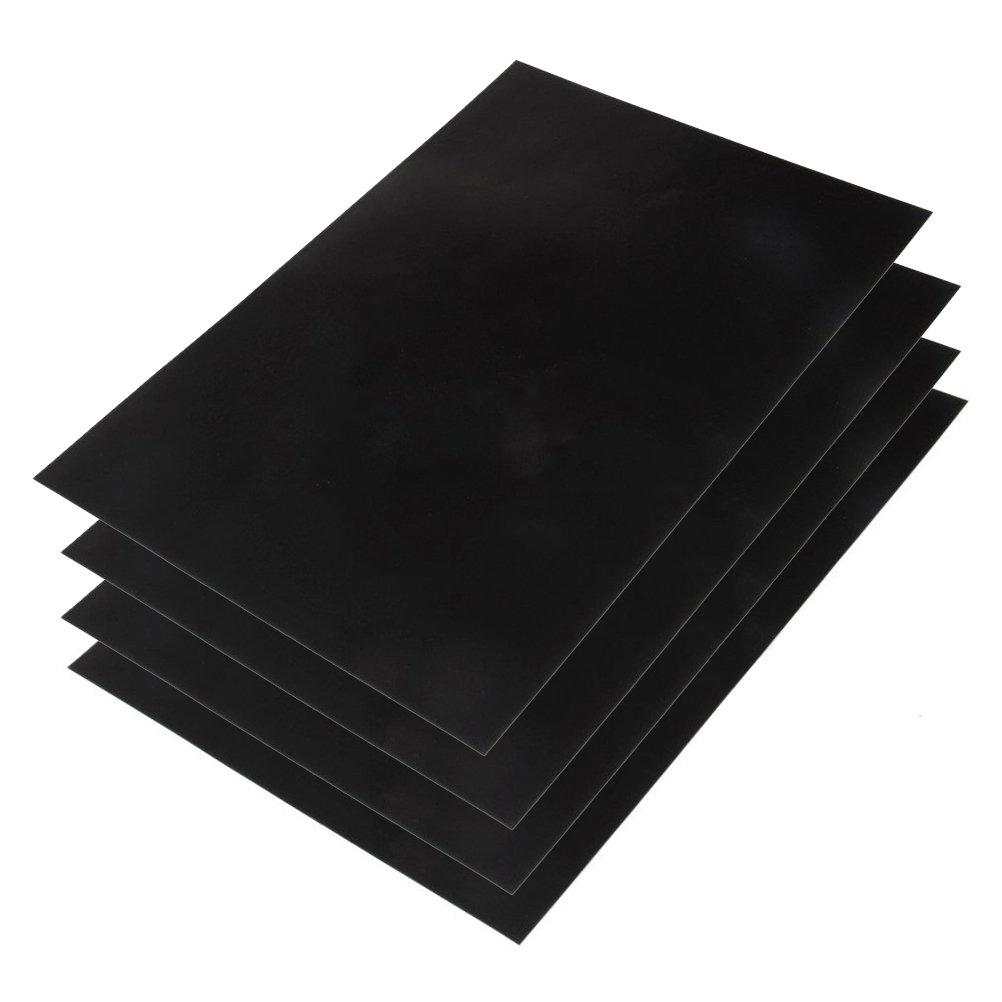 WINOMO Chalkboard Wall Sticker 4pcs A4 Removable Blackboard Decal Chalk Board Contact Paper 20x30cm