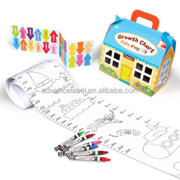 Paper Growth Chart Coloring Kit Transport Buy Growth Chart
