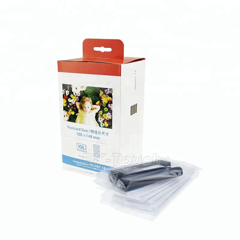 Hot sale 싼 compatible kp-108in 대 한 canon kp 보내기를 108in ink cartridge kp 보내기를 kp108