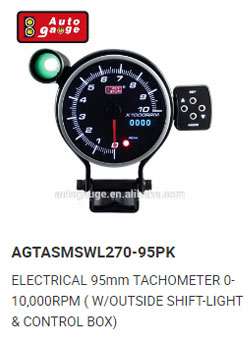52 mm Black Clear Lens Car Fuel Meter