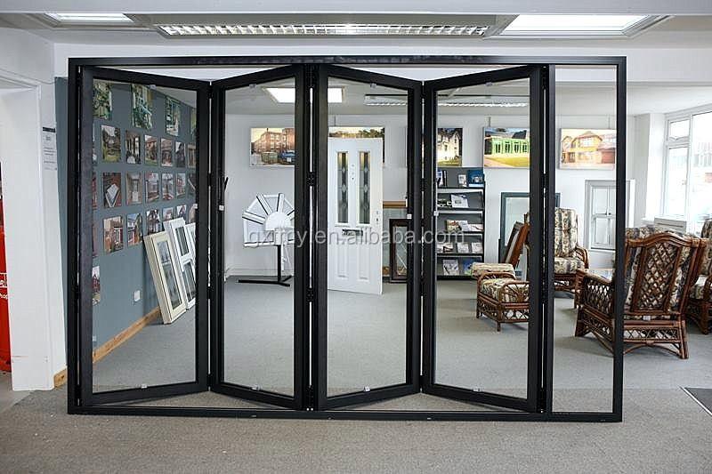 Puertas de entrada puerta de vidrio tipo y aluminio - Puertas plegables de aluminio ...