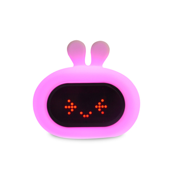 Touch Control Light Funny Bunny Rabbit Alarm Clock with Color Changing