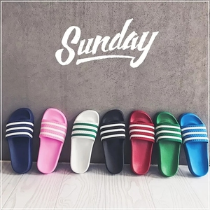 Anti-slip wholesale slide sandals black blank summer slippers home bathroom slipper custom logooutdoor beach shoes
