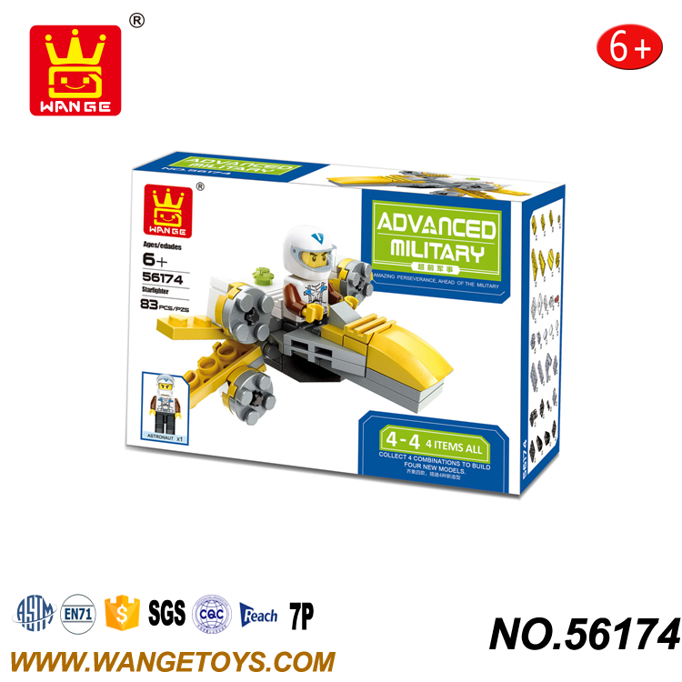 Enlighten Star ABS Plastic Diy Robot X - Wing Plane Fighter Building Block For Boys