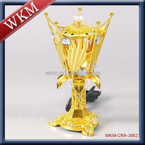 Arabic gold colour crystal incense burner