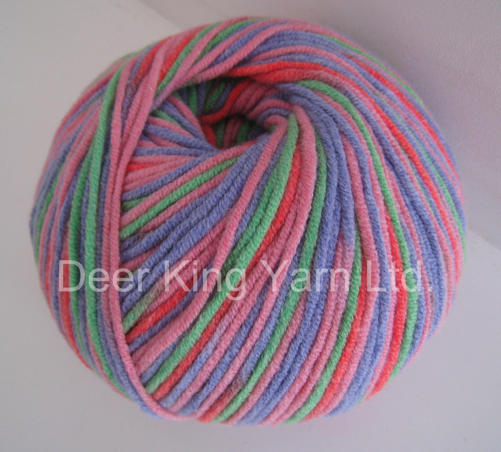 Cotton Acrylic Yarn,Soft Hand Knitting Blended Yarn