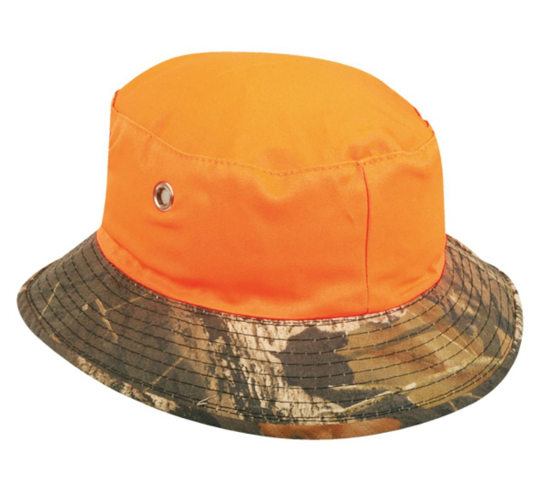 Mossy Oak Break Up/ Blaze Orange Reversible Boonie Bucket Style Hunting Outdoor Hat / Cap