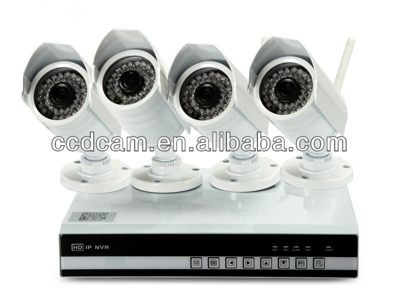 NVK01 4CH 720p Cloud HD IP Camera with remote PC and 3G Mobile Surveillance cctv NVR kit