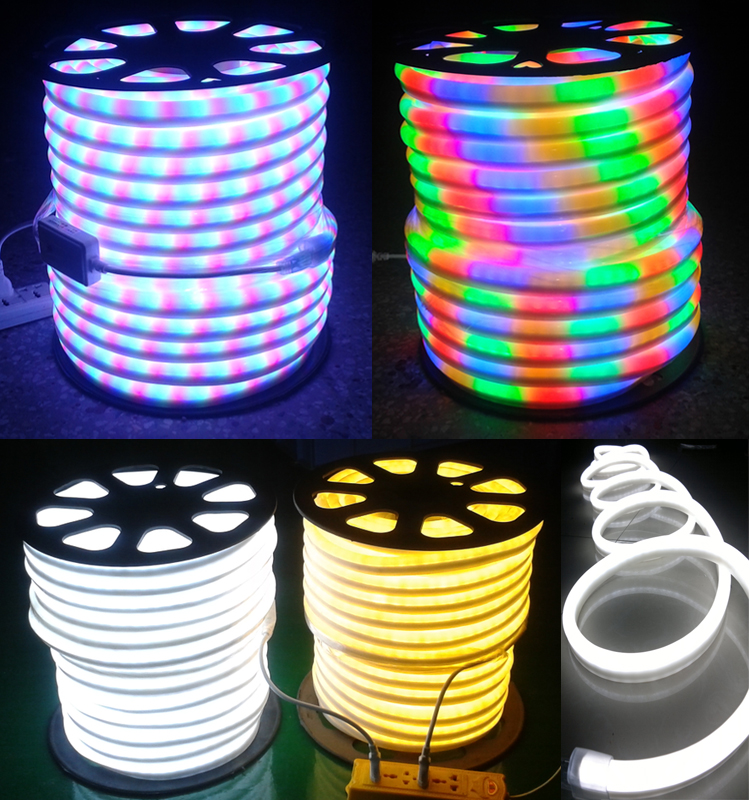 Copper Line Led Neon Rope Light Ip65 Outdoor Color Changing Led ...