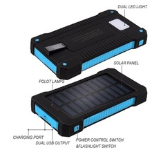 20000mah thin solar power bank fast charging wholesale high quality battery colorful useful charger pad for cell phone
