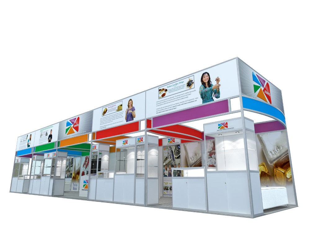 Trade Show Booth With Shelves : Aluminum extrusion trade show booth portable display