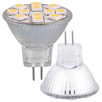 Ecloud ShopUS® 3 pieces MR11 G4 Warm White 12 SMD LED Spot Light Bulb Lamp 12V