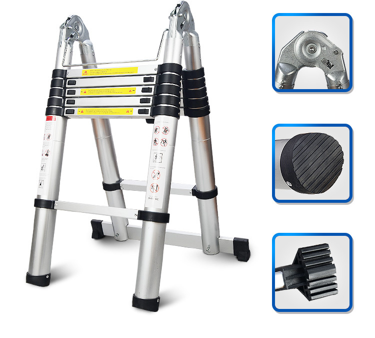 Soyoung Aluminum Telescoping Extension Ladder Portable Multi-purpose ...