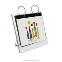 acrylic customized calendar holder/calendar display/stand