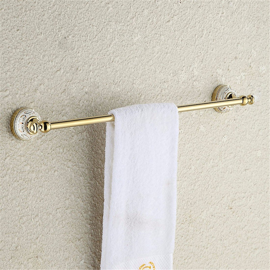 LAONA European style gold zinc alloy ceramic base, bathroom fittings, toilet paper rack, towel rack,Single rod