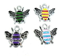 Fashion alloy cheap enamel bee charm(H100005)