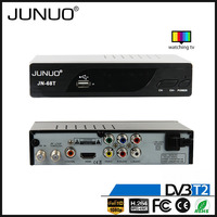 JUNUO shenzhen manufacture OEM ali or mstar time shift dvb-t compatible h.264 MPEG4 georgia set top box dvb t2