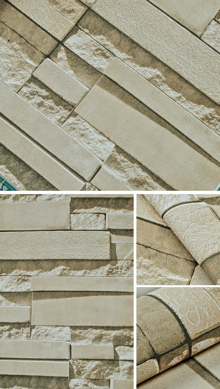 Stone Wall Paper stone wall paper 3d brick wall wallpaper vinyl waterproof 3d