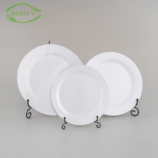 Hot sale serving cheap wholesale ps silver plated restaurant round plastic disposable dinner plates & Buy Cheap China plastic plates silver Products Find China plastic ...