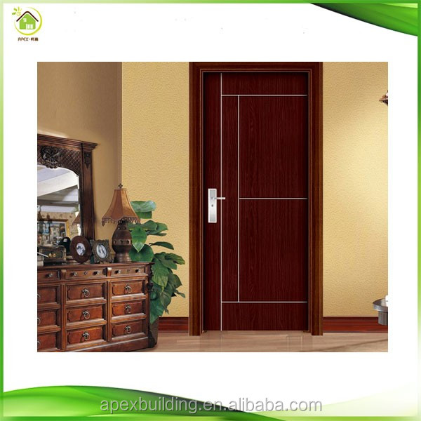 Modern interior bedroom wooden single doors designs buy for Bed room gate design
