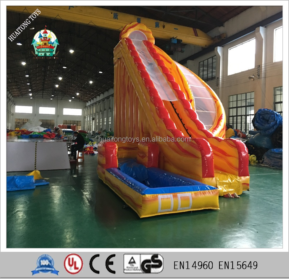 exciting giant inflatable wood grain color water <strong>slide</strong> for sale