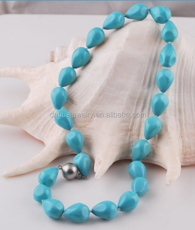 teardrop turquoise shell pearl necklace pearl pieces