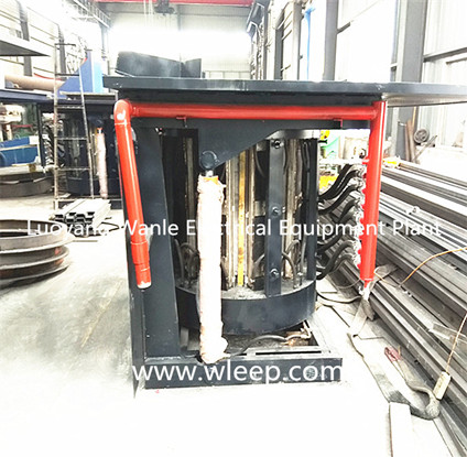 3T Steel Shell IF Induction Copper Melting Furnace