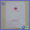 Plastic drawstring bags!LDPE material customized logo accepted plastic hotel laundry bags