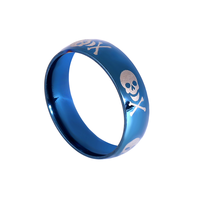 2017 latest jewelry manufacturer skull footprint simple stainless steel boys little finger rings