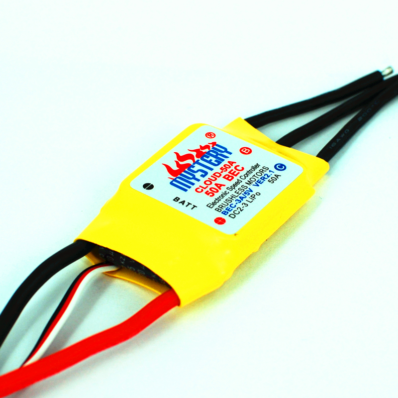 FreeShipping Mystery Cloud 50A Brushless ESC 2A BEC RC Speed Controller