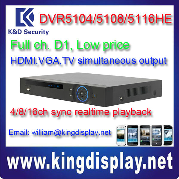 DAHUA DVR5104/5108/5116HE 4/8/16 Channel Mini D11U Standalone DVR HDMI VGA output 1u poe digital video recorder