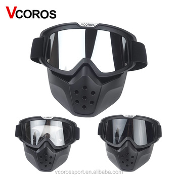 d1e09cc7 Vcoros vintage motorcycle helmet mask scooter helmet goggles full face  shield goggles