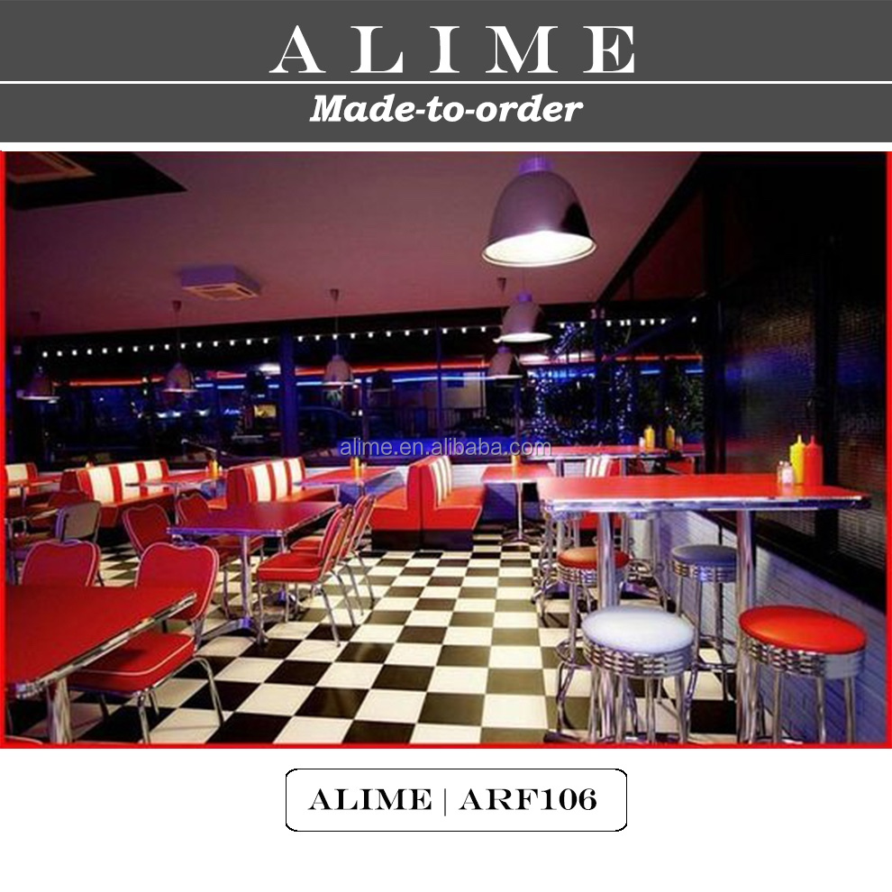 Diner Tables For Sale: Alime Arf104 Custom Red American 1950 Style Diner