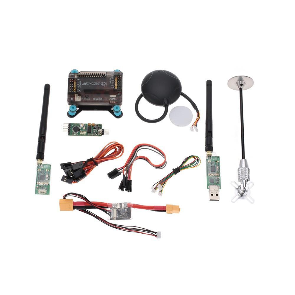 Compre APM 2 8 Controlador De Vôo 6 M Antena GPS Dobrável Suporte Montante  Módulo De Potência 433 Mhz 915 Mhz Transmisão De Rádio Telemetria De