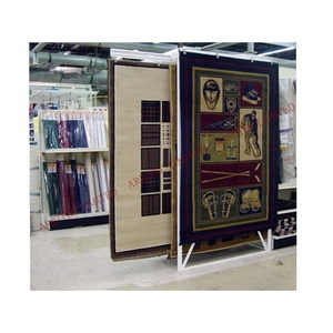 custom rug carpet rack exhibition showroom heavy large carpet display rack sliding track carpet display