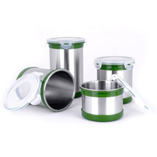 Lihong Kitchen stainless steel airtight canister set, candy jar set