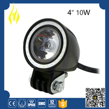 High quality 4 inch led work light 10w angel eye for ATV, SUV, off road, 4X4, mining vehicle,etc.