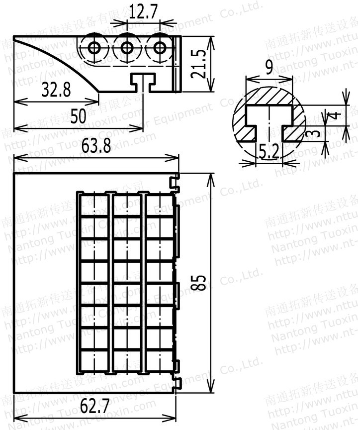 Tx-567 Modular Transfer Roller Plate