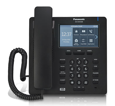 Cheap Corded IP Phone KX-HDV330 with 2 x 10/100/1000M ports