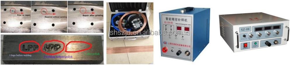 Sz-08 Esd Cold Welding Machine / Aluminum Shoe Mould Holes Welding ...