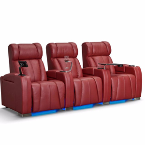 Red Leather Recliner Sofa Living Room VIP Theater Recliner Chair